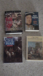 Various English History Books for Sale from $10