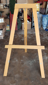 Large wooden easel 20.00