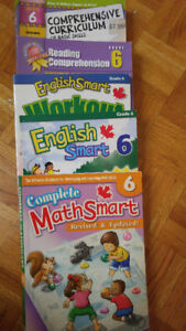 Used Smart Math & English Books from Grade 6 & Grade 8