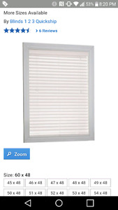 Faux wood 1 inch blinds 60 x 48 inch NEW PRICE