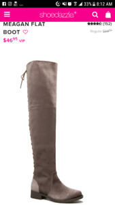 Size 7.5-8 over the knee boots  never worn