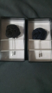 Black Floral Wedding Boutonniere