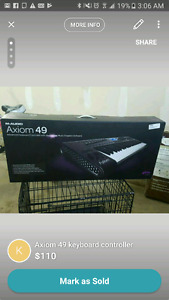 Axiom 49 keyboard controller