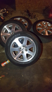 honda rims with tires in great shape