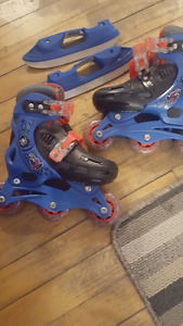 Boys 2 in 1 skates and roller blades