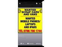 Scrap. Vans. Tippers. Cars. Wanted