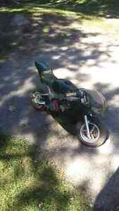 Costom  pocket  bike       with parts