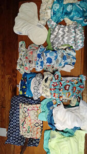 Cloth Diapers, 18 total