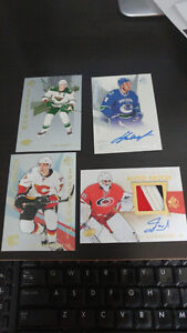 autographed sp authentic hockey cards