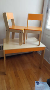 Toddler chairs and table set, by P'Kolino