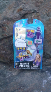 Hannah Montana Activity Pad & Pen Set (new in package)