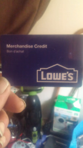 Lowe's mercandise credit card