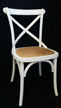 NEW FRENCH PROVINCIAL INDUSTRIAL WOODEN CROSS BACK CHAIR DINING Chipping Norton Liverpool Area Preview