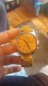 Fossil watch gold plated