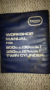 Triumph Shop Manual / Owners Manual