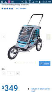 BRAND NEW Allen Sports Steel 1 Child Jogger & Bicycle Trailer