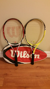 2 Tennis racquets with case