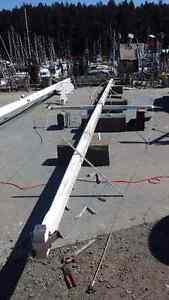 Two Wooden Masts & Booms  (44'6 , 37'6)  - White