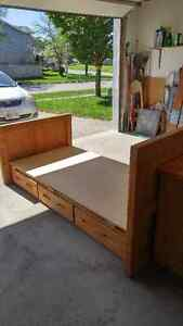 Single captain's bed frame and matching desk Cambridge Kitchener Area image 1