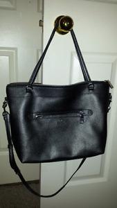 Authentic silver coach purse