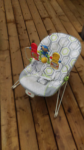 Fisher-Price Baby Bouncer Geo Meadow baby chair baby rocker