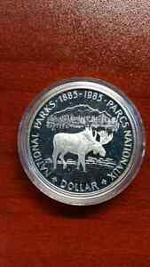 1985 CANADA SILVER DOLLAR PROOF UHC NATIONAL PARK