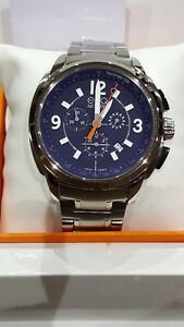 ESQ Chronograph Blue Dial Stainless Steel Men's Watch