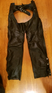 Leather Motorcycle Chaps Size Small