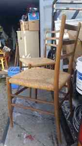Two  mid century modern style chairs