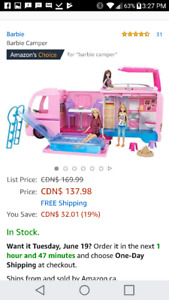 Barbie mobile home toy