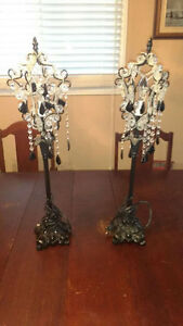 Two decorative table lamps