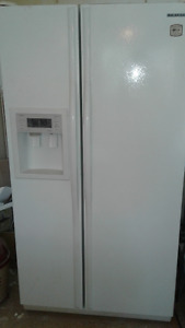 Samsung side by side refrigerator. Never used.