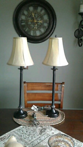 Lamps and Set of Canvas Pictures