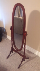 Real wood stand up mirror