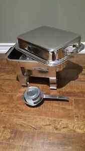 Brand new stainless steel food warmers