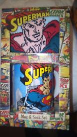Superman mug & sock gift set