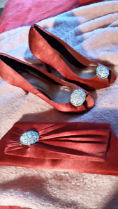 Gorgeous Roberto Vianni High Heels with Matching Clutch Purse