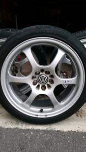 "17"" 5 bolt universal Ultra light rims and tires"