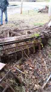Antique old disc plows