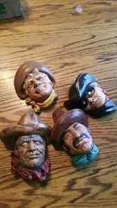 7 western theme bosson reproduction heads