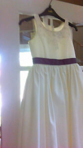 Girls bridesmaid dress age 8 in ivory