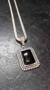 Black & Silver Tone Pendant and Necklace Kingston Kingston Area image 2