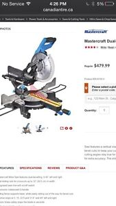 Mastercraft  sliding compound mitre saw