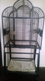 Large Parrot Cage with Stand please read discretion