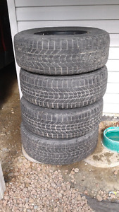 Firestone Winterforce tires P265\70R17 on 6 Bolt Ford Rims
