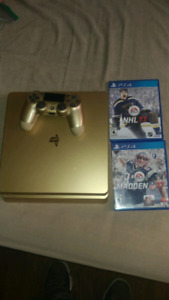 GOLD PS4 SLIM 1TB!