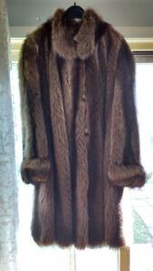 European Fur Coat vintage retro excellent condition