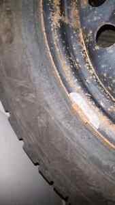 4 Goodyear Nordic Winter Tires W/Rims Regina Regina Area image 4