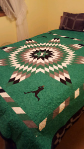 Sask. Roughriders theme quilt