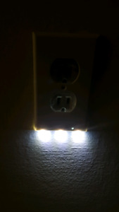 Motion sensor night light outlet covers